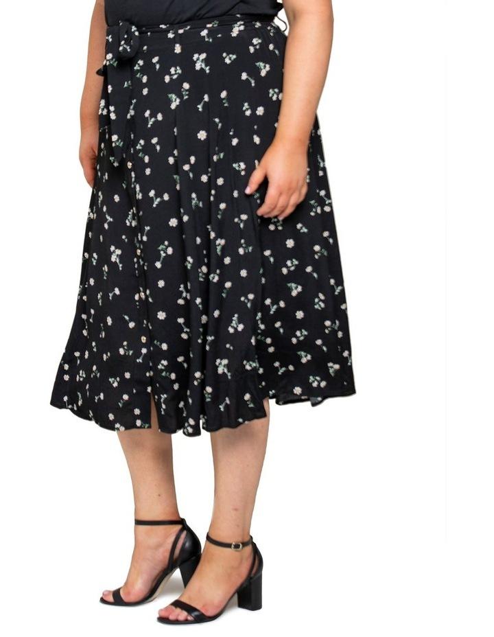 Ainsley Curve Button Through Midi Skirt image 3