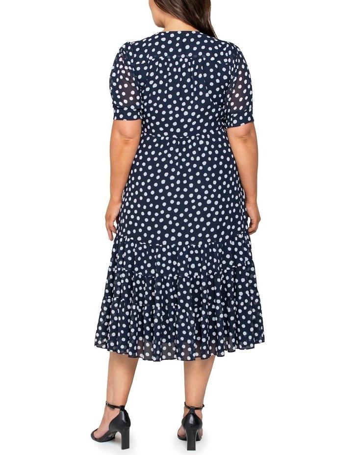Ellen Curve Puff Sleeve Tiered Wrap Dress image 3