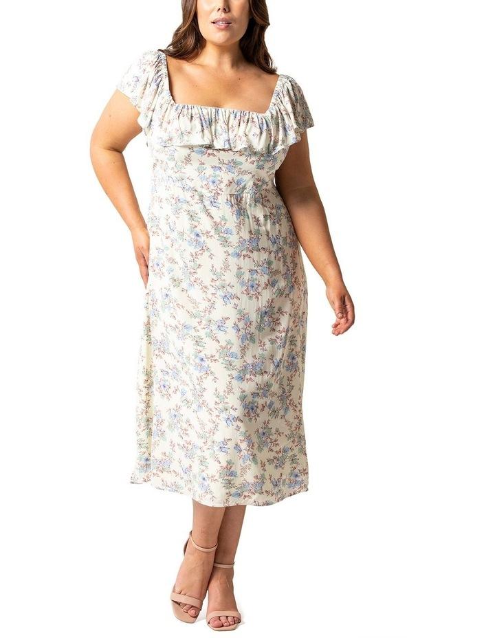 Ruby Curve Ruffle Square Neck Dress image 1