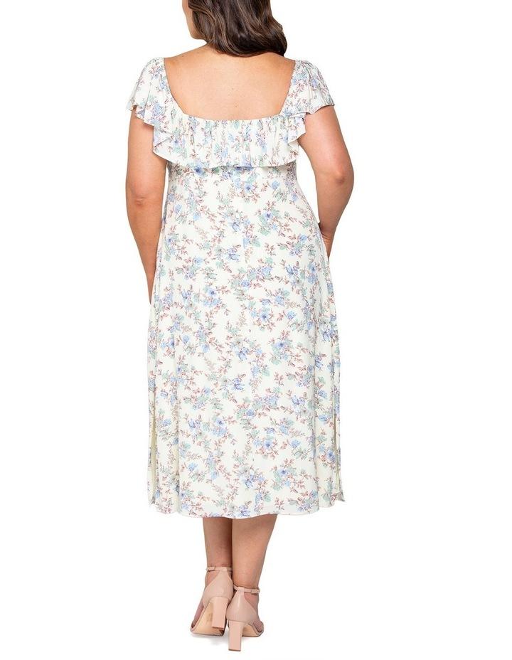 Ruby Curve Ruffle Square Neck Dress image 3