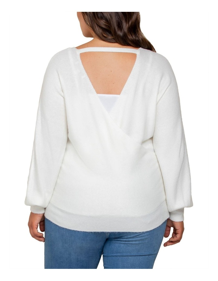 Anastasia Curve Wrap Front Knit Top image 3