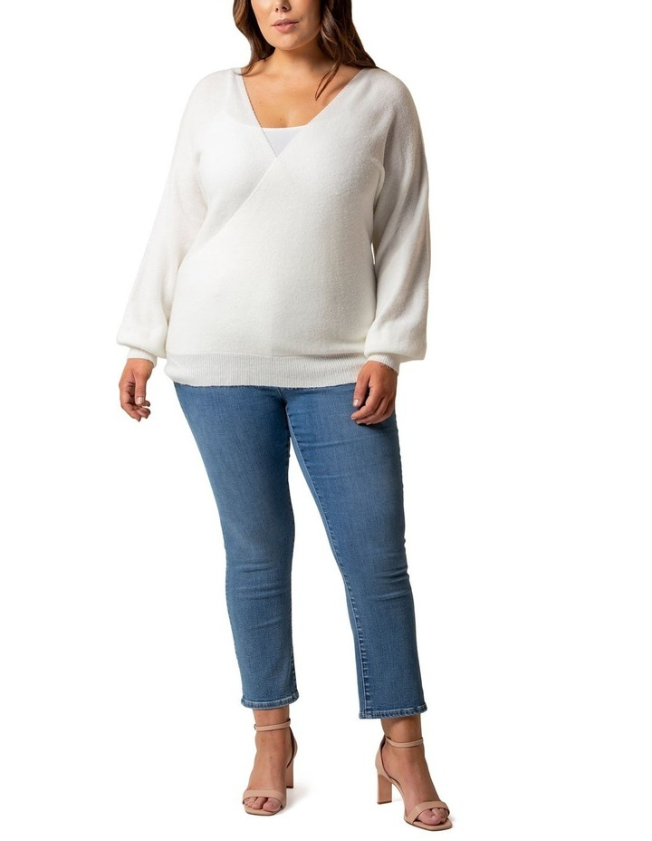 Anastasia Curve Wrap Front Knit Top image 4
