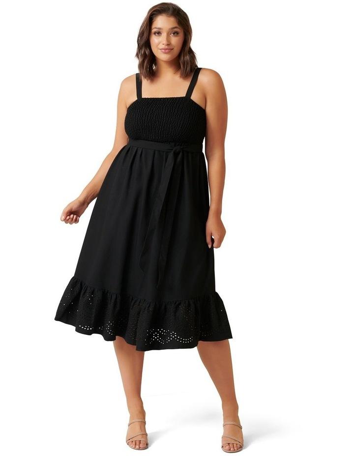 Marianne Curve Shirred Midi Dress image 1