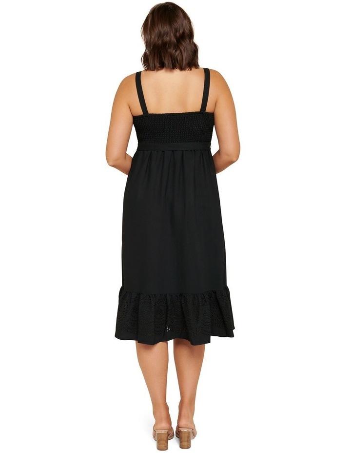Marianne Curve Shirred Midi Dress image 3