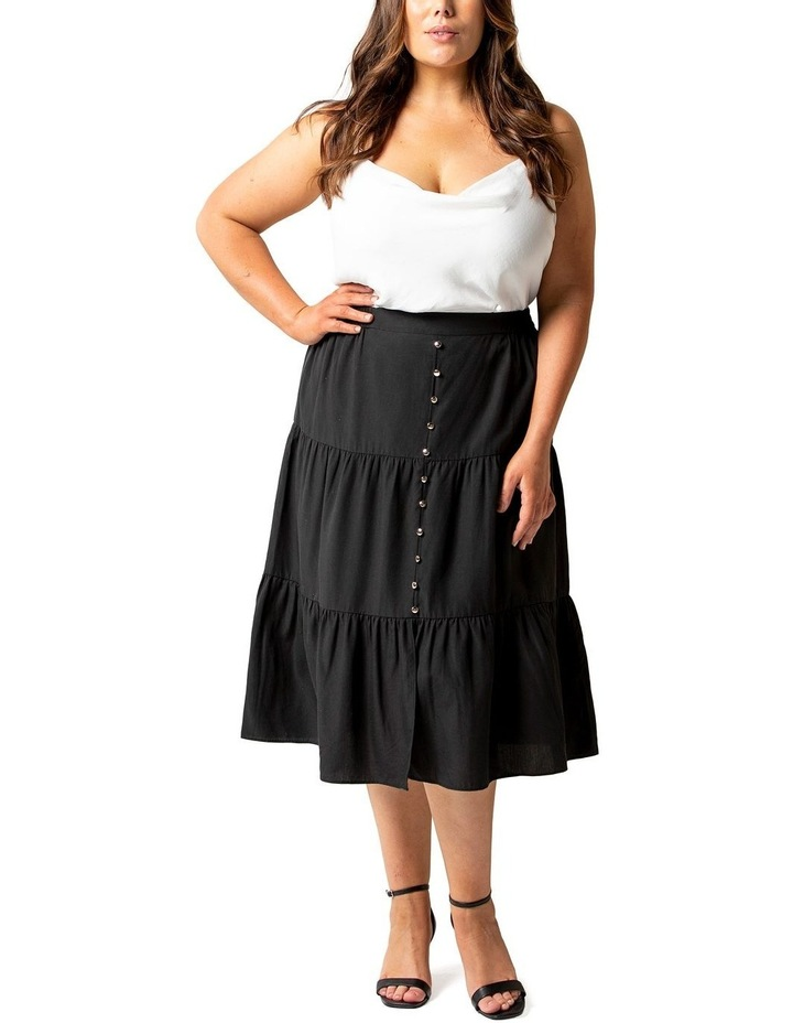 Dahlia Curve Button Front Tiered Skirt image 1