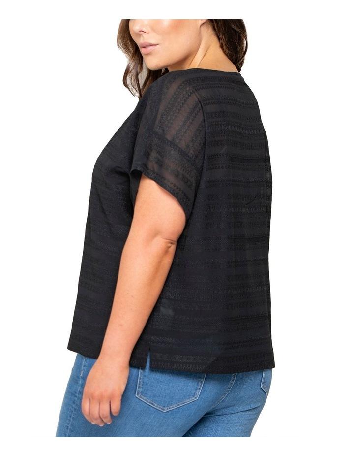 Jasmine Curve Embroidered Boxy Tee image 3