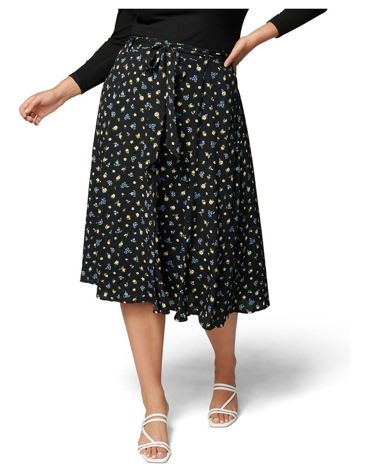 Ainsley Curve Button Through Midi Skirt image 1