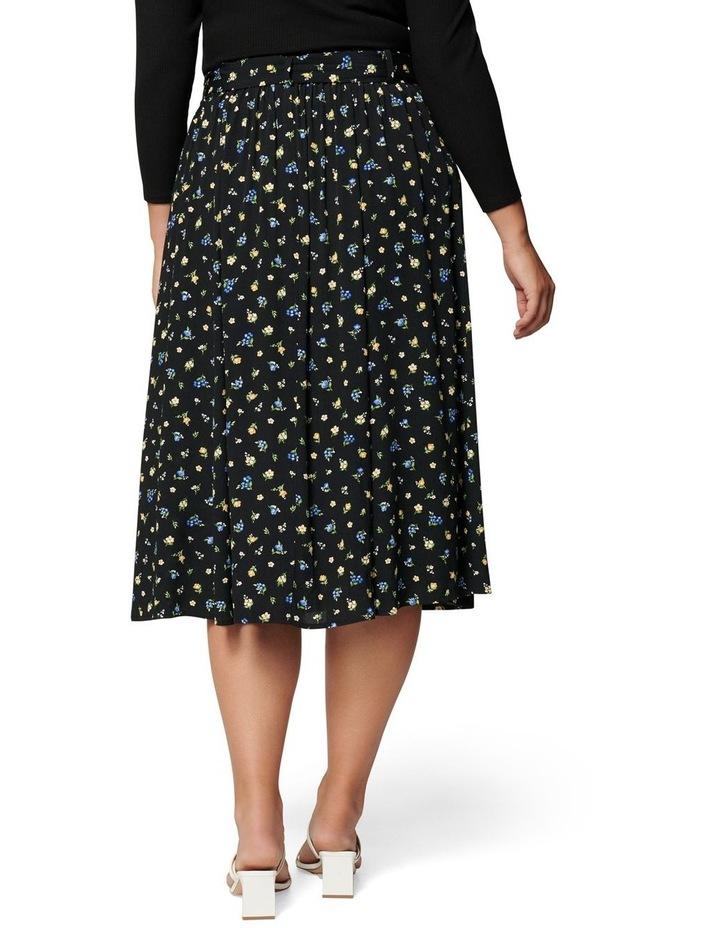 Ainsley Curve Button Through Midi Skirt image 4