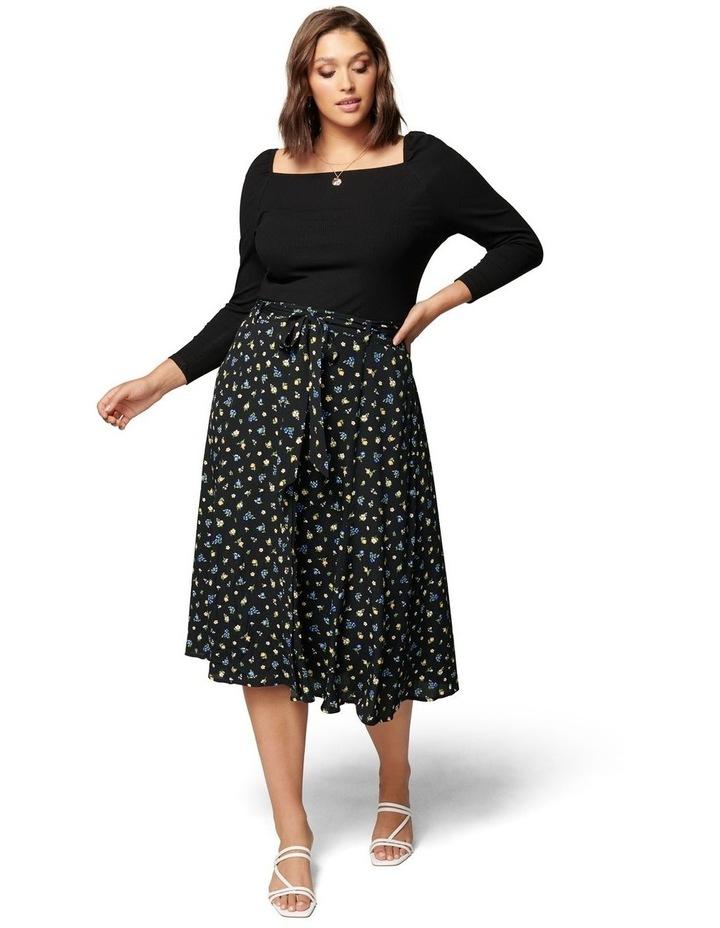 Ainsley Curve Button Through Midi Skirt image 5