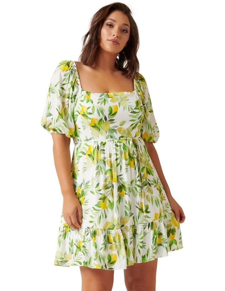 Mary Curve Puff Sleeve Mini Dress image 1