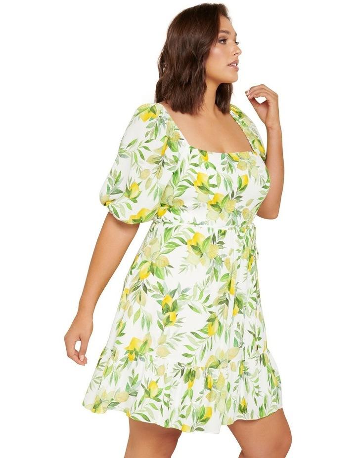 Mary Curve Puff Sleeve Mini Dress image 2