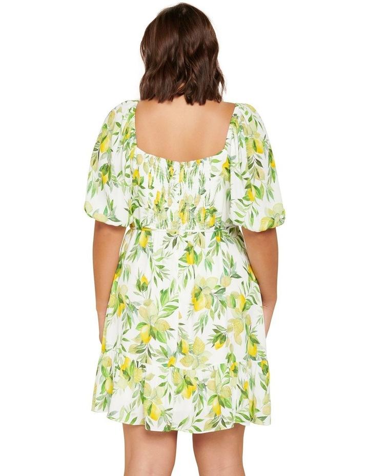 Mary Curve Puff Sleeve Mini Dress image 3