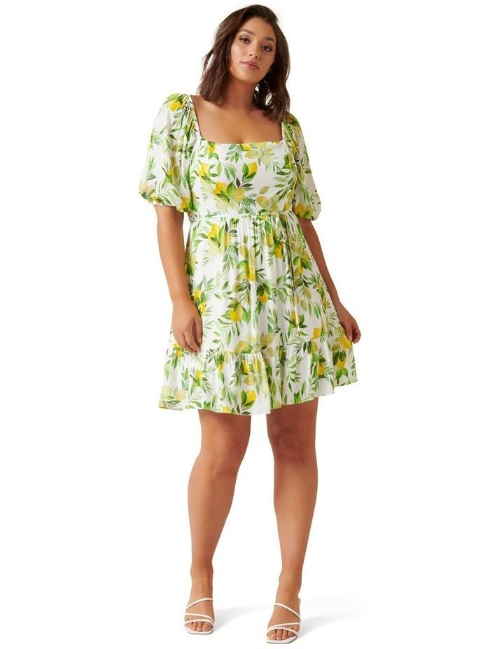 Mary Curve Puff Sleeve Mini Dress image 4