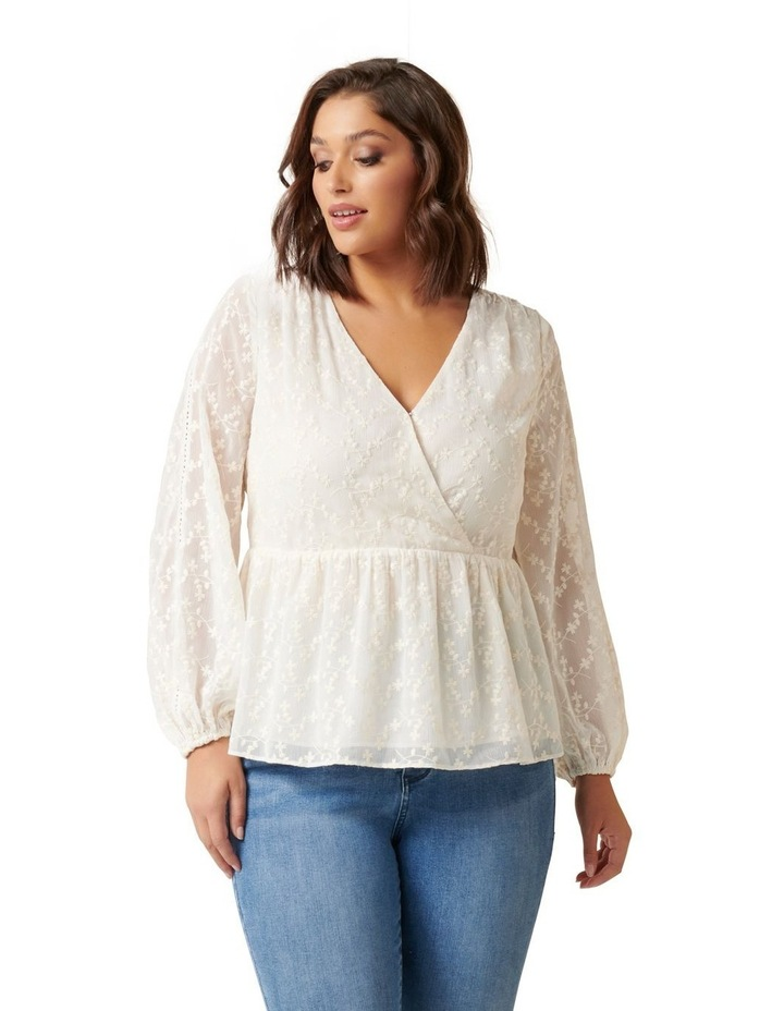 Andrea Curve Embroidered Blouse image 1