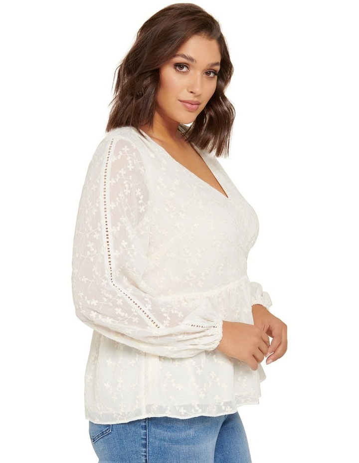 Andrea Curve Embroidered Blouse image 2