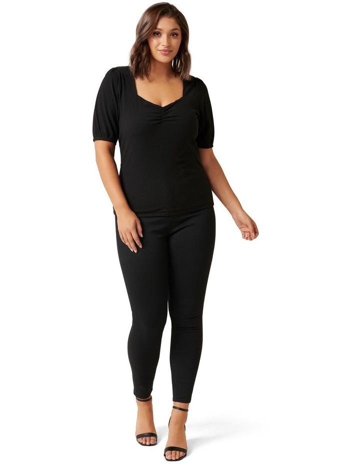 Juliet Curve Sweetheart Neck Ribbed Top image 4