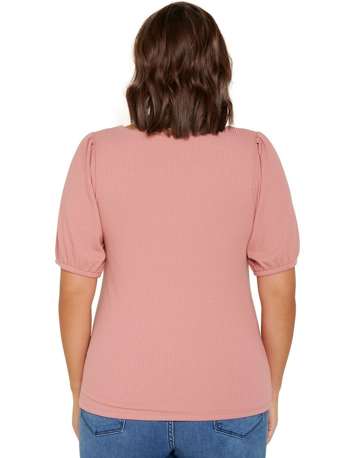 Juliet Curve Sweetheart Neck Ribbed Top image 3