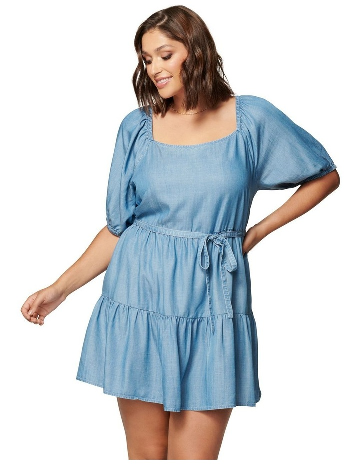 Shona Curve Square Neck Smock Dress image 1