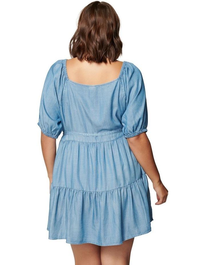 Shona Curve Square Neck Smock Dress image 4