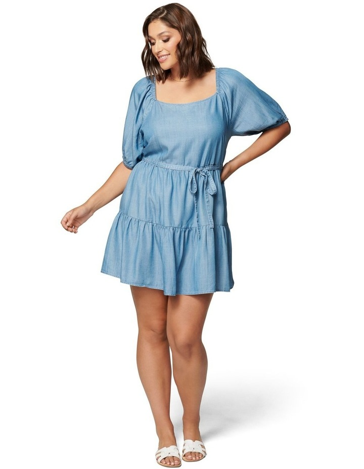 Shona Curve Square Neck Smock Dress image 5