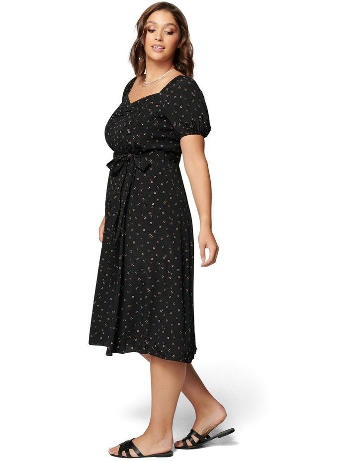 Halsey Curve Puff Sleeve Midi Dress image 3