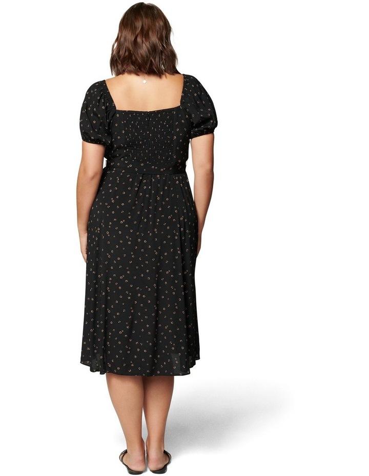 Halsey Curve Puff Sleeve Midi Dress image 4