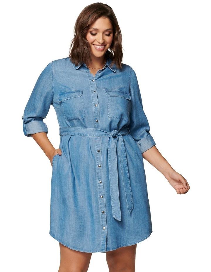 Inez Curve Utility Shirt Dress image 1