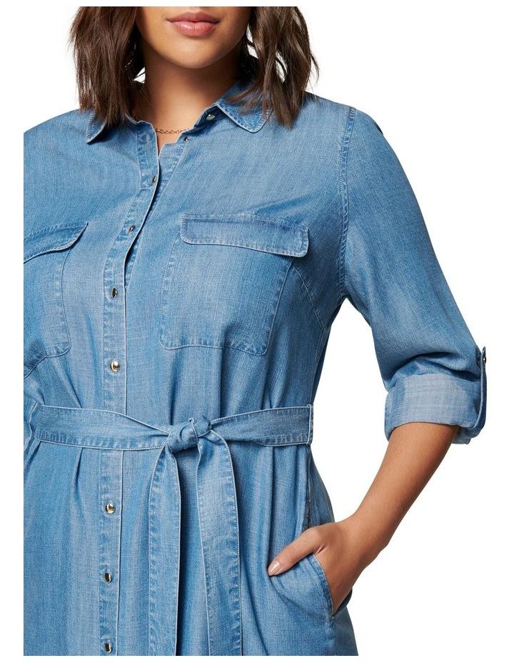 Inez Curve Utility Shirt Dress image 2