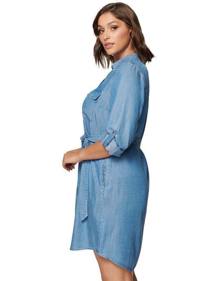 Inez Curve Utility Shirt Dress image 3