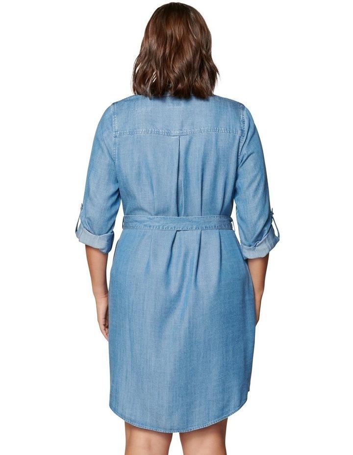 Inez Curve Utility Shirt Dress image 4