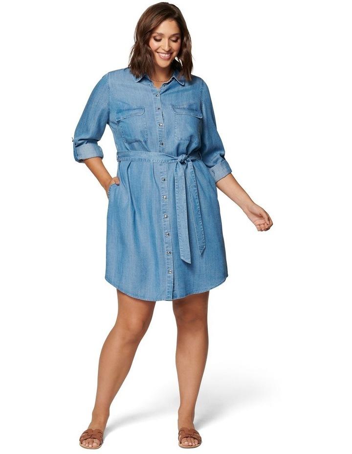 Inez Curve Utility Shirt Dress image 5