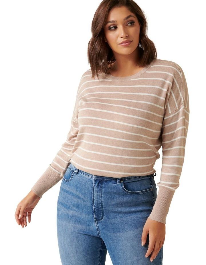Zara Curve Stripe Lightweight Jumper image 2