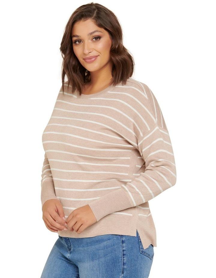 Zara Curve Stripe Lightweight Jumper image 3