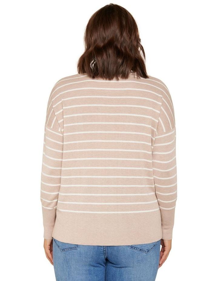 Zara Curve Stripe Lightweight Jumper image 4