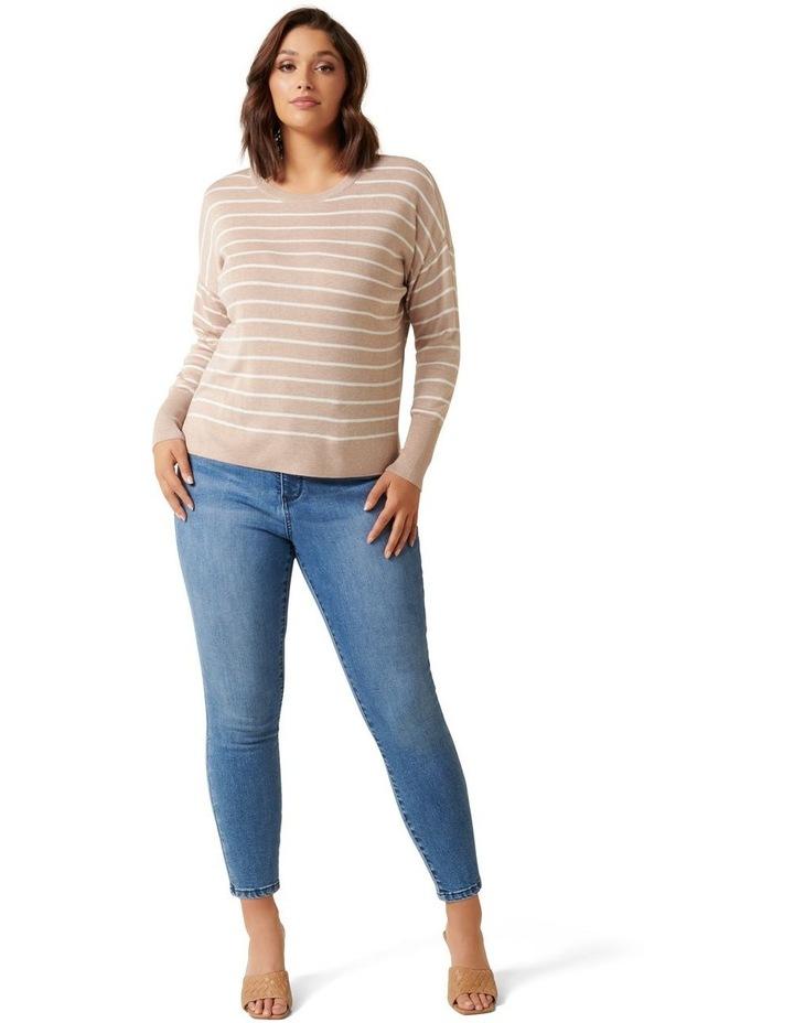 Zara Curve Stripe Lightweight Jumper image 5