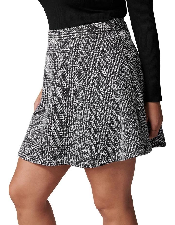 Ariel Curve Check Circle Mini Skirt image 3