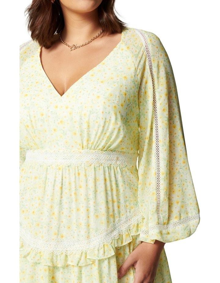 Kaylee Curve Trim Splice Mini Dress Sweet Mint Ditsy image 2
