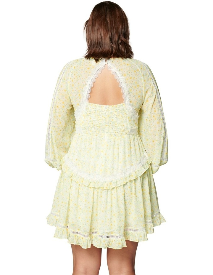 Kaylee Curve Trim Splice Mini Dress Sweet Mint Ditsy image 4