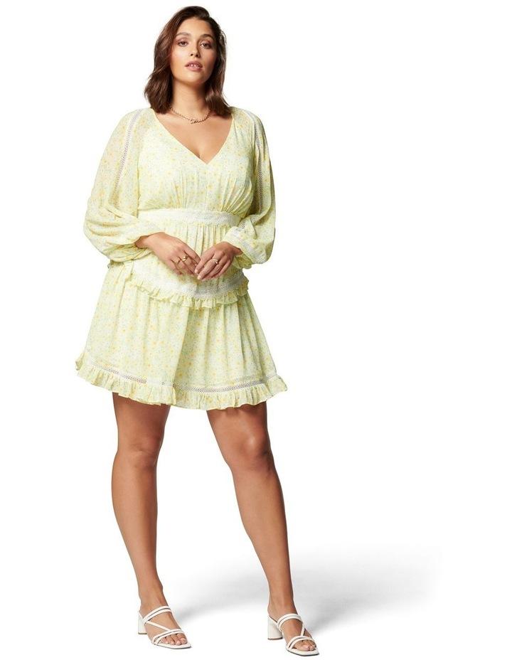 Kaylee Curve Trim Splice Mini Dress Sweet Mint Ditsy image 5