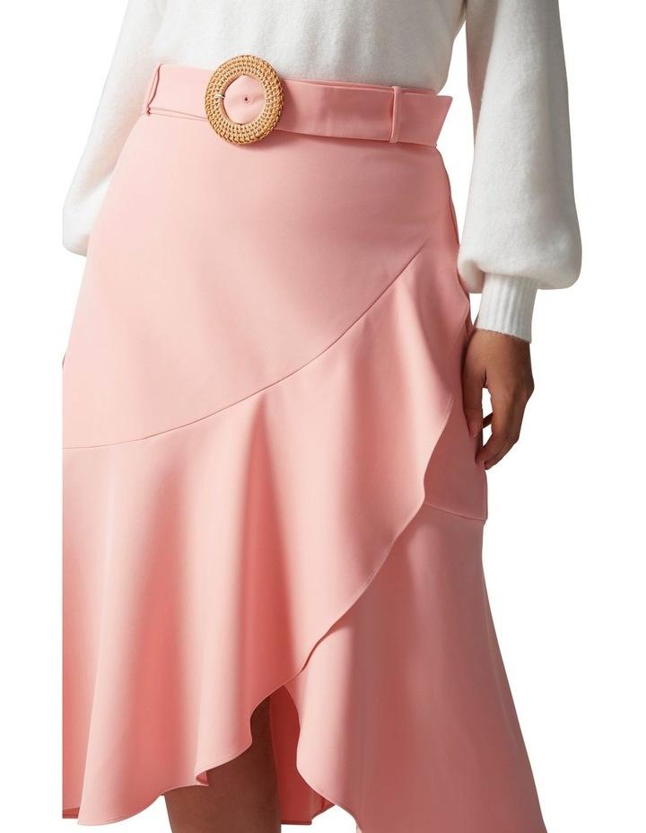 Gianna Curve Belted Midi Skirt Dusty Blush image 2