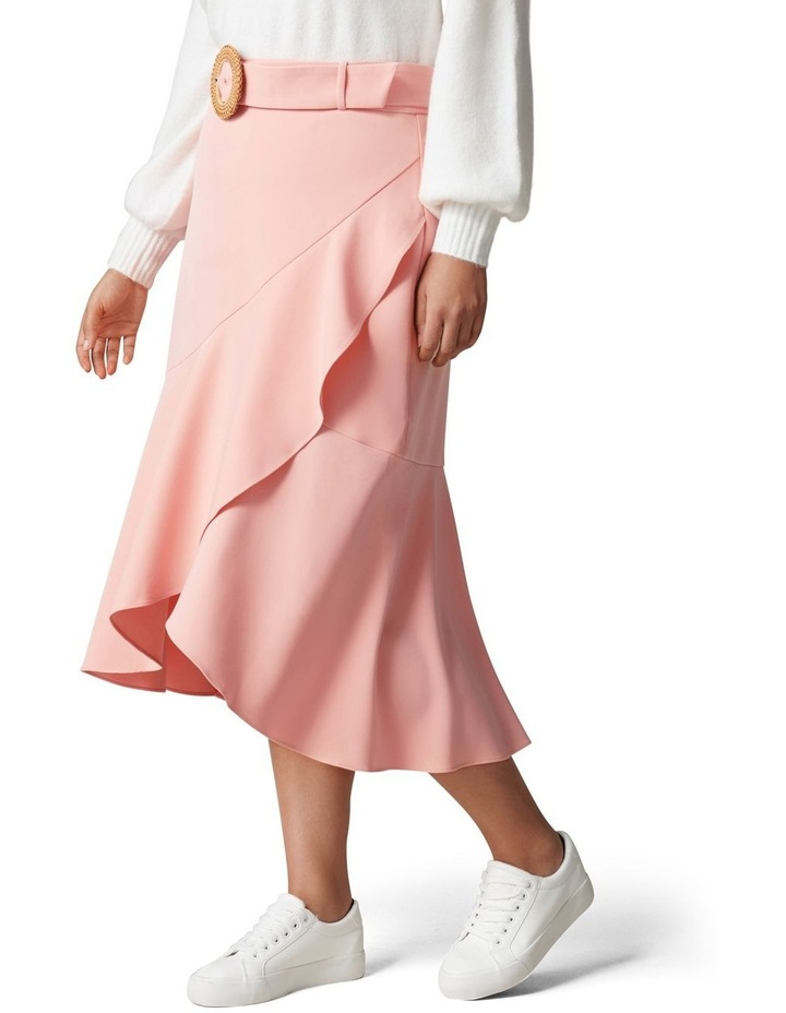 Gianna Curve Belted Midi Skirt Dusty Blush image 3