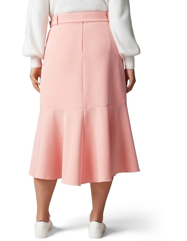 Gianna Curve Belted Midi Skirt Dusty Blush image 4