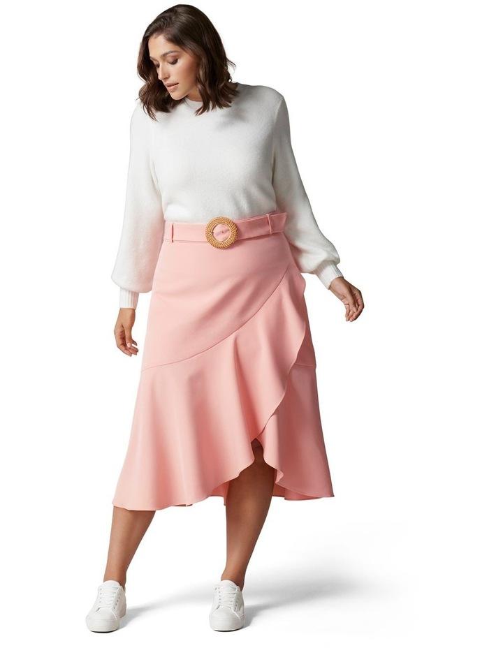 Gianna Curve Belted Midi Skirt Dusty Blush image 5