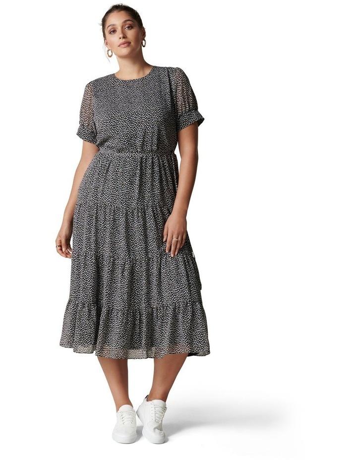 Bryony Curve Tiered Smock Midi Dress image 1
