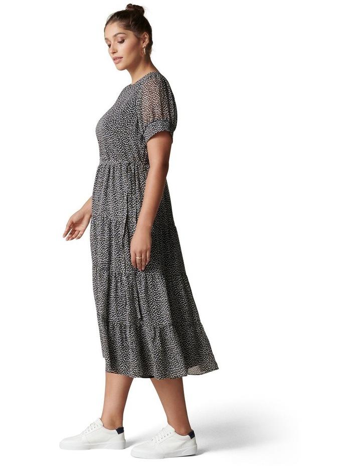 Bryony Curve Tiered Smock Midi Dress image 3