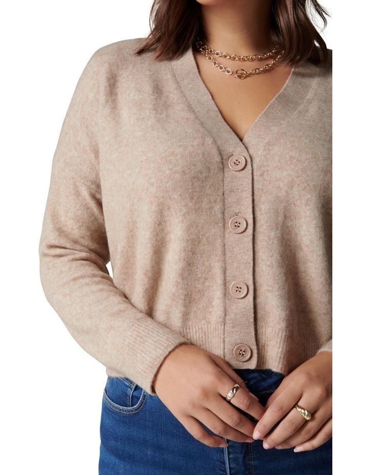 Fran Curve V-Neck Knit Cardigan image 2