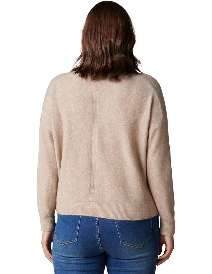 Fran Curve V-Neck Knit Cardigan image 4