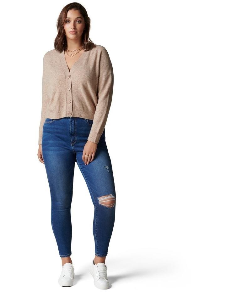 Fran Curve V-Neck Knit Cardigan image 5