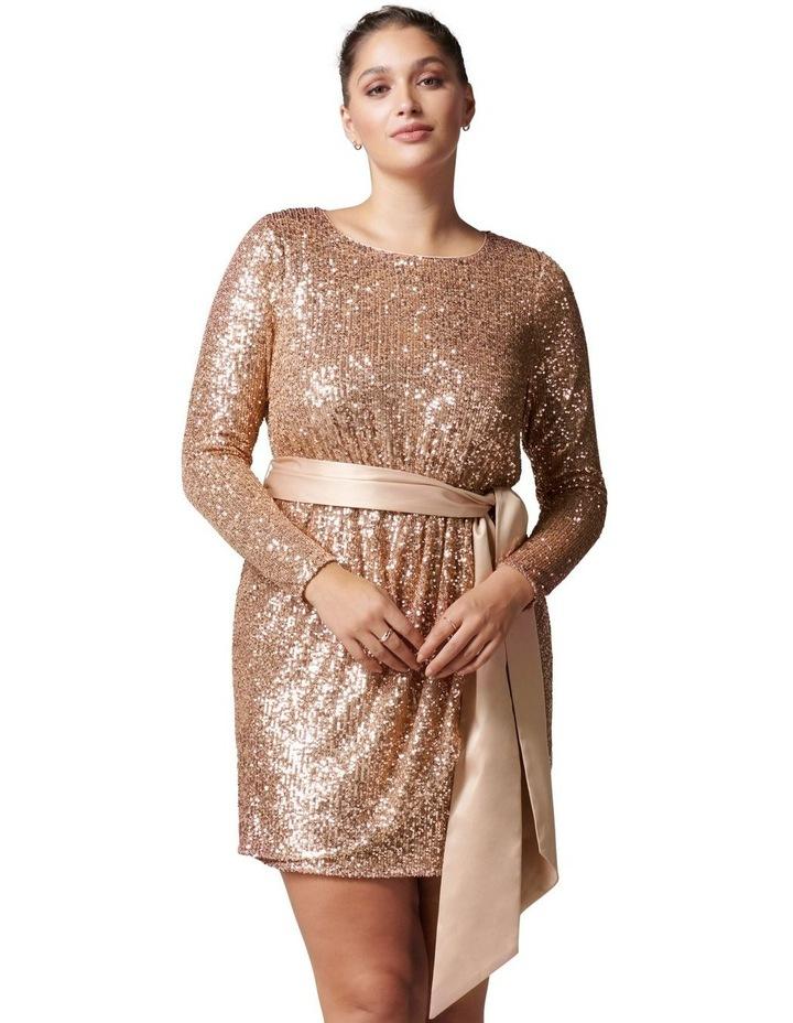 Tessa Curve Sequin Mini Dress image 1