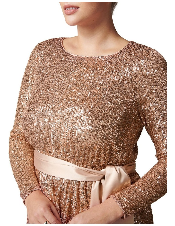 Tessa Curve Sequin Mini Dress image 2